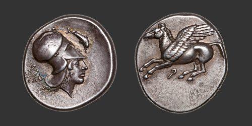 Odysseus numismatique monnaie grecque Corinthe statère