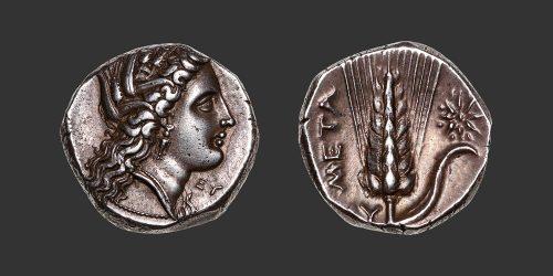 Odysseus numismatique monnaie grecque Lucanie Métaponte nomos didrachme