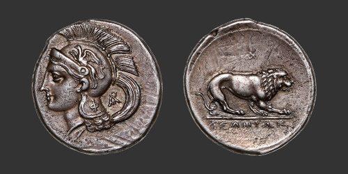 Odysseus numismatique monnaie grecque Lucanie Vélia nomos didrachme