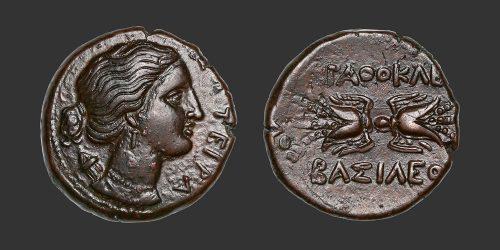 Odysseus numismatique monnaie grecque Sicile Syracuse litra