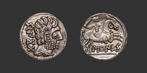 Odysseus numismatique monnaie gauloise ibère Baskunes denier