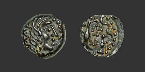 Odysseus numismatique monnaie gauloise Carnutes bronze