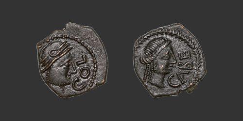 Odysseus numismatique monnaie gauloise Cavaillon bronze