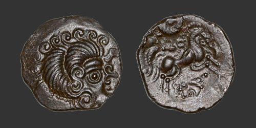Odysseus numismatique monnaie gauloise Coriosolites statère