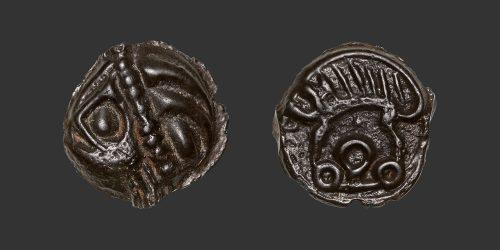 Odysseus numismatique monnaie gauloise Leuques potin
