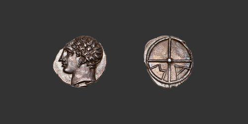 Odysseus numismatique monnaie grecque gauloise Marseille obole