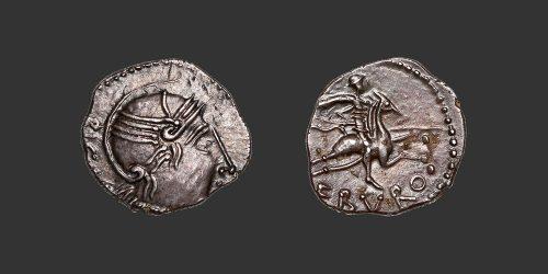 Odysseus numismatique monnaie gauloise Vallée du Rhone denier quinaire