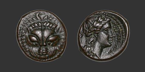 Odysseus numismatique monnaie grecque Bruttium Rhêgium bronze