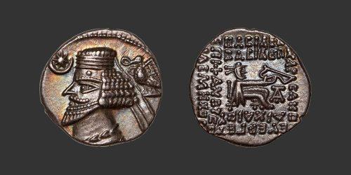 Odysseus numismatique monnaie grecque royaume Parthe Phraates IV drachme