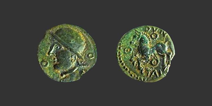 Monnaie gauloise en bronze inédite, Éduens