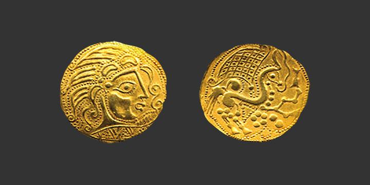 Monnaie gauloise Parisii statère d'or