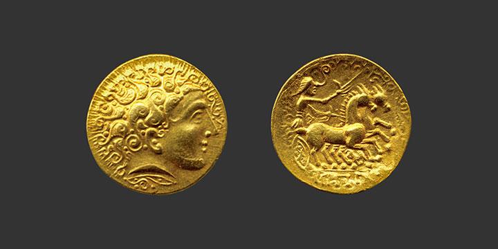 Monnaie gauloise statère d'or