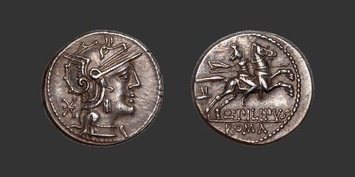 Odysseus Numismatique Monnaies Romaines République MARCIA - Q. PHILIPPUS • Denier