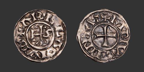 Odysseus Numismatique Monnaies Carolingiennes ARLES - CHARLES LE CHAUVE • Denier