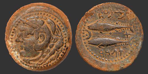 Odysseus numismatique monnaie grecque Ibérie Gades bronze