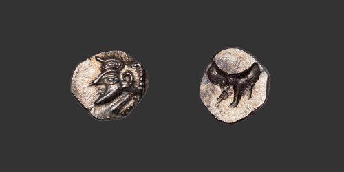 Odysseus numismatique monnaie grecque Ibérie Emporion obole