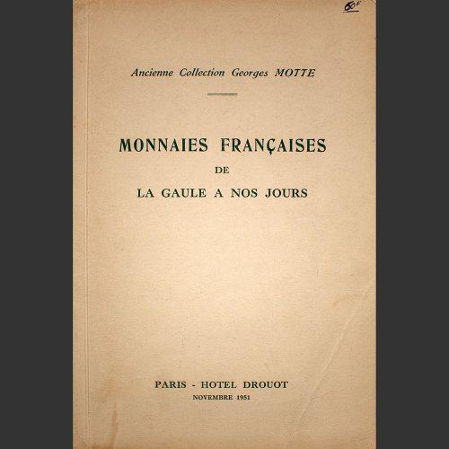 Odysseus numismatique catalogues de vente ANCIENNE COLLECTION GEORGES MOTTE Bourgey 1951