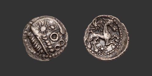 Odysseus numismatique monnaie gauloise Bellovaques quart de statère