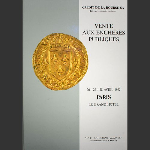Odysseus numismatique catalogues de vente COLLECTION CLAOUET Crédit de la Bourse 1993
