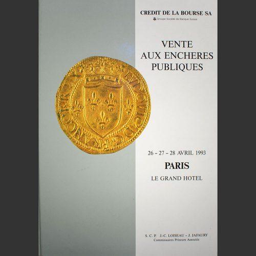 Odysseus numismatique catalogues de vente COLLECTION CLAOUET Crédit de la Bourse 1993