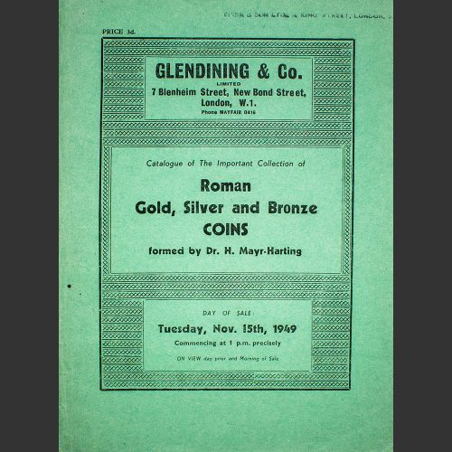 Odysseus numismatique catalogues de vente IMPORTANT COLLECTION OF ROMAN COINS Glendining 1949