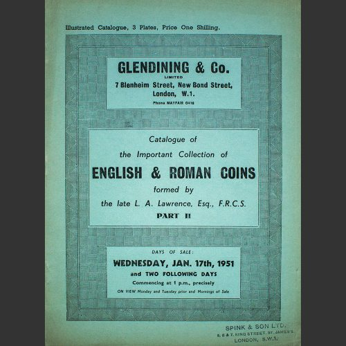 Odysseus numismatique catalogues de vente IMPORTANT COLLECTION OF ROMAN COINS Glendining 1951