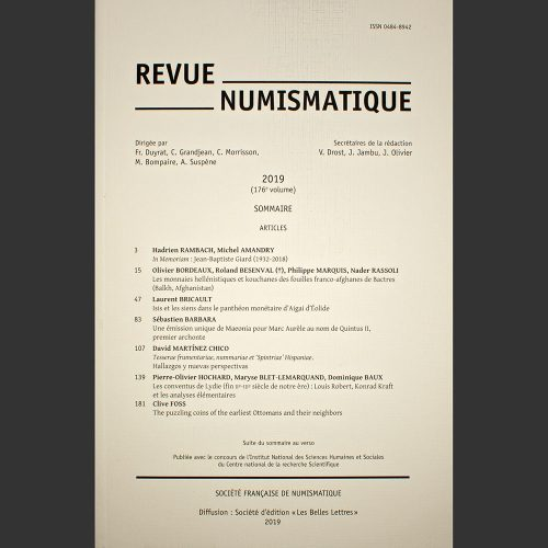 Odysseus numismatique revues REVUE NUMISMATIQUE 2019 Société Française de Numismatique