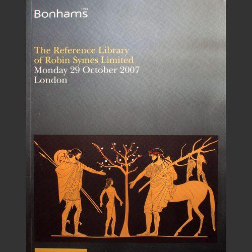 Odysseus numismatique catalogues de vente THE REFERENCE LIBRARY OF ROBIN SYMES Bonhams 2007