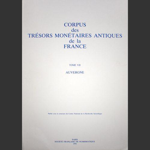 Odysseus numismatique livres monnaies gauloises romaines TRÉSORS MONÉTAIRES ANTIQUES VII : AUVERGNE Société Française de Numismatique