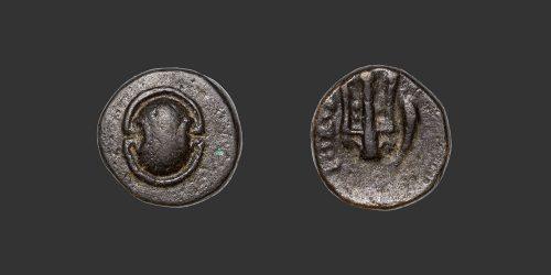 Odysseus numismatique monnaie grecque Béotie Thèbes