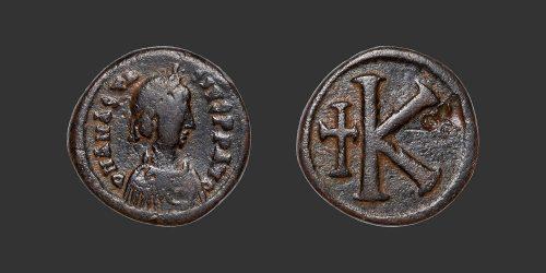 Odysseus Numismatique Monnaie Byzantine CONSTANTINOPLE - ANASTASE Ier • Demi Follis
