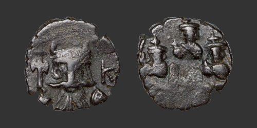 Odysseus Numismatique Monnaie Byzantine CONSTANTINOPLE - CONSTANT II • Follis