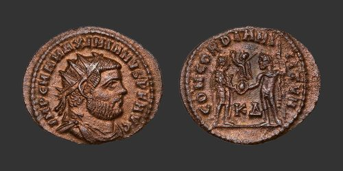 Odysseus Numismatique Monnaie Romaine MAXIMIEN • Antoninien