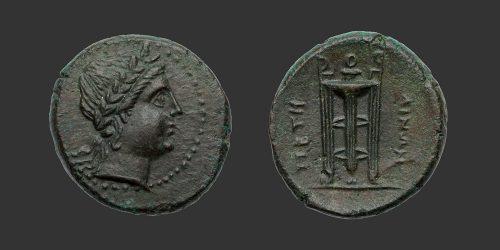 Odysseus Numismatique Monnaies Grecques BRUTTIUM - PETELIA • Bronze