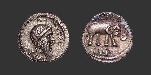 Odysseus Numismatique Monnaies Romaines République CAECILIA - Q. CAECILIUS METELLUS PIUS SCIPIO • Denier