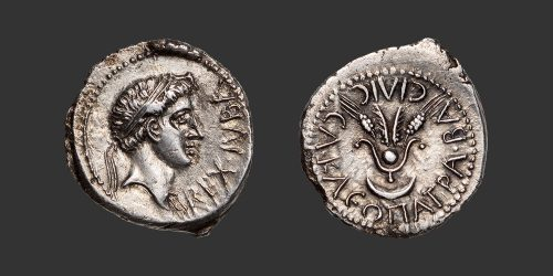 Odysseus Numismatique Monnaies Grecques MAURÉTANIE - JUBA II & CLÉOPÂTRE SÉLÉNÉ • Denier