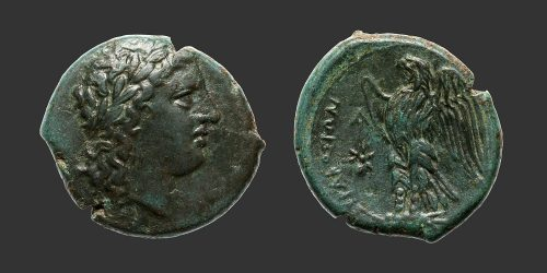 Odysseus Numismatique Monnaies Grecques SICILE - SYRACUSE - HICÉTAS II • Bronze