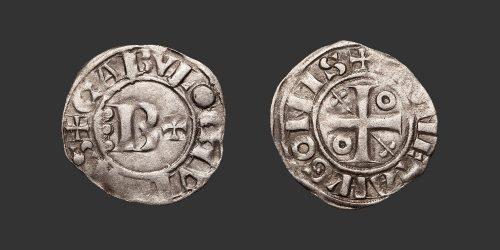 Odysseus Numismatique Monnaies Féodales BOURGOGNE - CHALON - HUGUES II • Denier