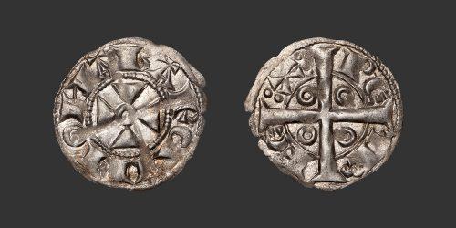 Odysseus Numismatique Monnaies Féodales CATALOGNE - BARCELONE - PIERRE Ier • Denier