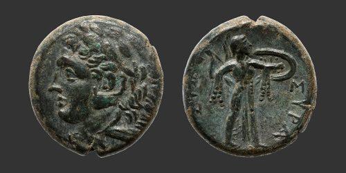 Odysseus Numismatique Monnaies Grecques SICILE - SYRACUSE - PYRRHOS • Bronze