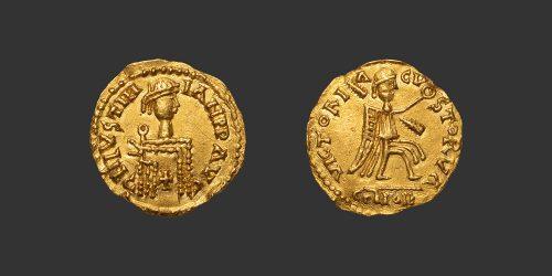 Odysseus Numismatique Monnaies Barbares WISIGOTHS - AU NOM DE JUSTINIEN Ier • Trémissis