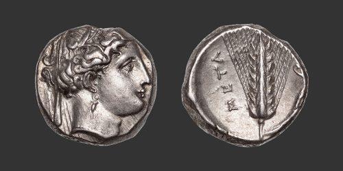 Odysseus Numismatique Monnaies Grecques LUCANIE - MÉTAPONTE • Nomos