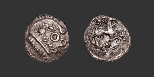 Odysseus Numismatique Monnaies Gauloises BELLOVAQUES • Quart de Statère