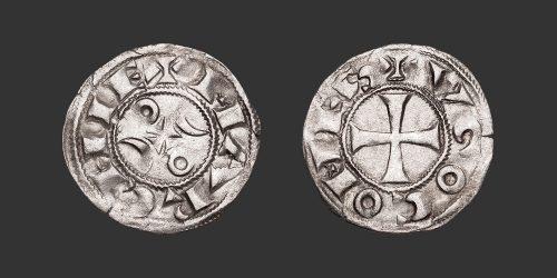 Odysseus Numismatique Monnaies Féodales LA MARCHE - HUGUES X • Denier