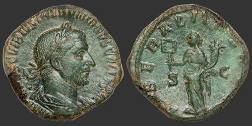 Odysseus Numismatique Monnaies Romaines TRÉBONIEN GALLE • Sesterce