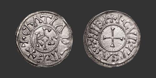 Odysseus Numismatique Monnaies Médiévales Carolingiennes CURTISASONIEN - CHARLES LE CHAUVE • Denier