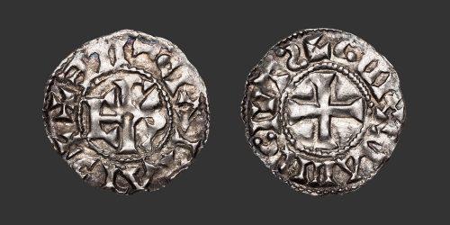 Odysseus Numismatique Monnaies Carolingiennes LE MANS - CHARLES LE CHAUVE • Denier