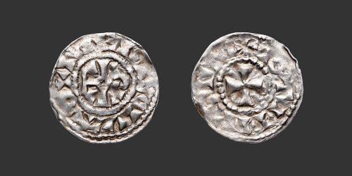 Odysseus Numismatique Monnaies Carolingiennes TROYES - CHARLES LE SIMPLE • Obole