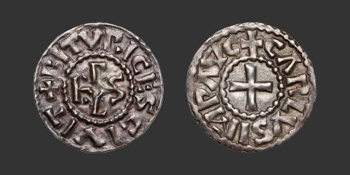 Odysseus Numismatique Monnaies Carolingiennes BOURGES - CHARLES II LE CHAUVE • Denier