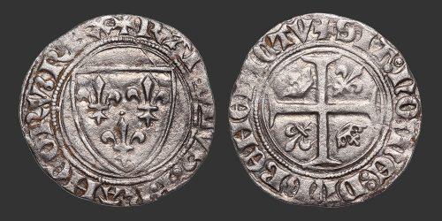 Odysseus Numismatique Monnaies Royales CHARLES VI • Blanc Guénar